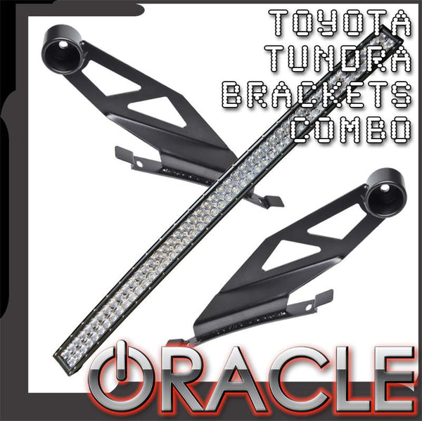 "2007-2014 Toyota Tundra ORACLE Curved 50"" LED Light Bar+Brackets Combo"
