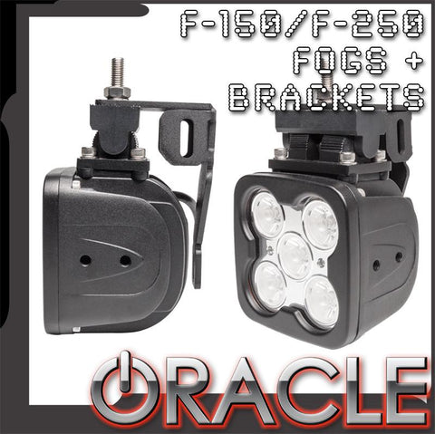 1999-2014 Ford F-150/250 ORACLE LED Fog Lights & Replacement Brackets