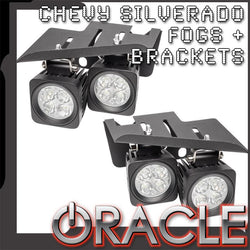 2007-2013 Chevy Silverado ORACLE LED Fog Light & Replacement Brackets