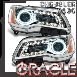 2011-2014 Chrysler 300C NON HID Pre-Assembled Headlights - Chrome Housing