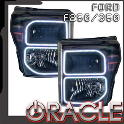 2011-2016 Ford F250/350 Pre-Assembled Headlights - Black