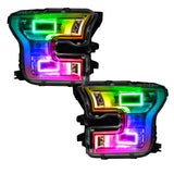 2015+ Ford F-150 ORACLE LED Quad Beam Projector Headlight Halo Kit