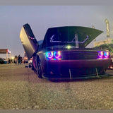 ORACLE Lighting 2008-2014 Dodge Challenger Dynamic ColorSHIFT® Headlight Halo Kit - Standard Mount