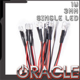 ORACLE 1W 3mm Single Wired LED-10 Pack
