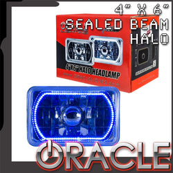 "ORACLE Pre-Installed 4x6"" H4651/H4656 Sealed Beam Halo - Blue SMD"
