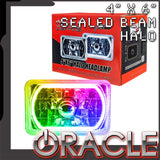 "ORACLE Pre-Installed 4x6"" H4651/H4656 Sealed Beam Halo - ColorSHIFT SMD"