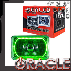 "ORACLE Pre-Installed 4x6"" H4651/H4656 Sealed Beam Halo - Green SMD"