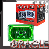 "ORACLE Pre-Installed 4x6"" Sealed Beam Halo - Green SMD"
