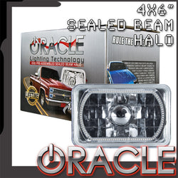 "ORACLE Pre-Installed 4x6"" H4651/H4656 Sealed Beam Halo - All Colors"
