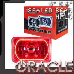 "ORACLE Pre-Installed 4x6"" H4651/H4656 Sealed Beam Halo - Red SMD"