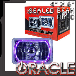 "ORACLE Pre-Installed 4x6"" Sealed Beam Halo - UV/Purple SMD"