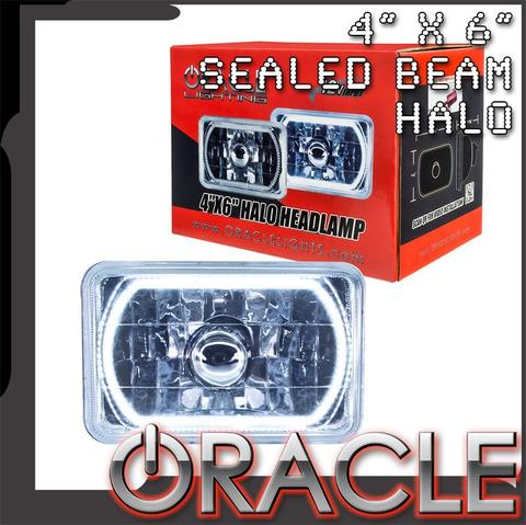 "1979-1986 Ford Mustang ORACLE Pre-Installed 4x6"" H4651/H4656 Sealed Beam Halo"