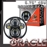 "ORACLE 5.75"" 40W Replacement LED Headlight - Chrome Bezel"