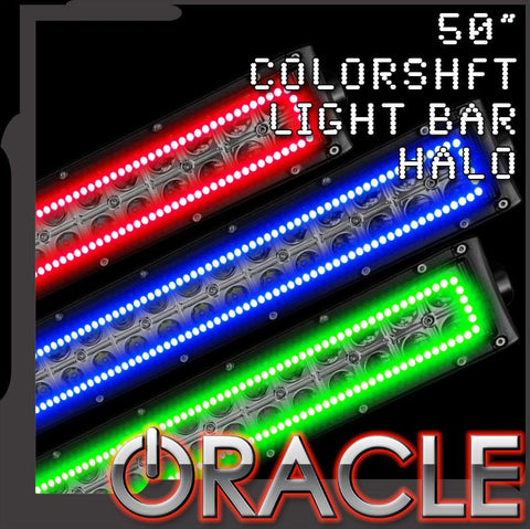 "ORACLE Off-Road 50"" ColorSHIFT Light Bar Halo"