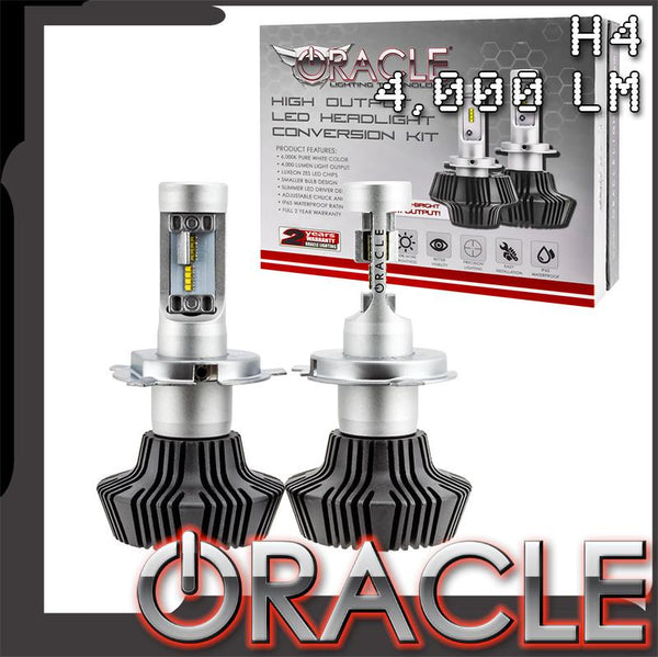 ORACLE H4 4,000 Lumen LED Headlight Bulbs (Pair)
