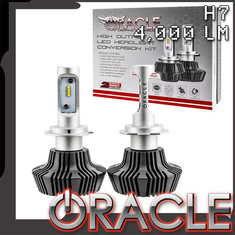 ORACLE H7 4,000 Lumen LED Headlight Bulbs (Pair)