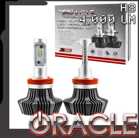 ORACLE H8 4,000+ Lumen LED Headlight Bulbs (Pair)