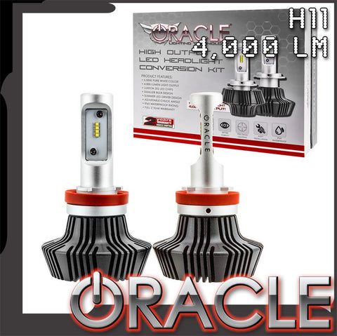 2014-2015 Chevrolet Camaro Non-RS ORACLE H11 4,000+ Lumen LED Fog Light Conversion Kit