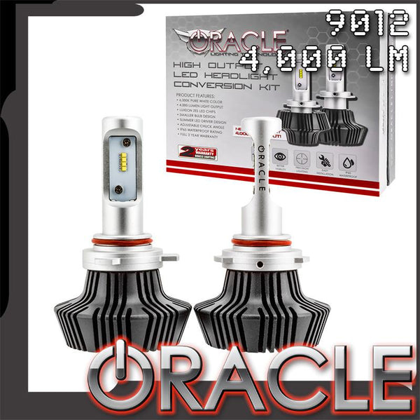 ORACLE 9012 4,000 Lumen LED Headlight Bulbs (Pair)