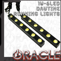 "ORACLE 1W-6LED 6"" DRL - Daytime Running Lights (Pair)"