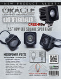 "ORACLE Off-Road 2.5"" 10W LED Square Spot Light"