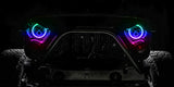"ORACLE 7"" High Powered LED Headlights (Pair) - Black Bezel - Dynamic ColorSHIFT- Jeep JL/JT"