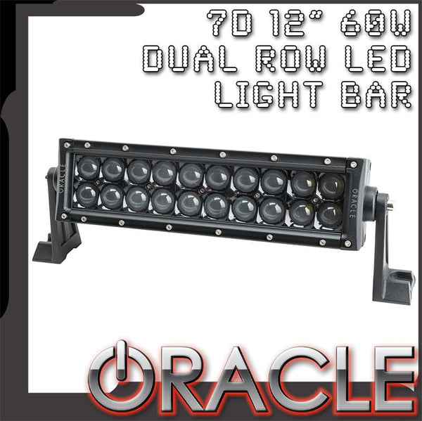 "ORACLE Black Series - 7D 12"" 60W Dual Row LED Light Bar"