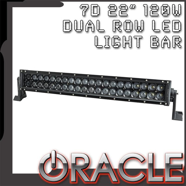 "ORACLE Black Series - 7D 22"" 120W Dual Row LED Light Bar"