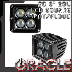 "ORACLE Black Series - 7D 3"" 20W LED Square Spot/Flood Light"