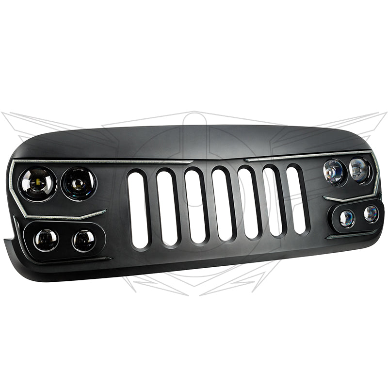 sc 1 st  Oracle Lighting & ORACLE Lighting VECTOR™ Series Full LED Grill- Jeep Wrangler JK