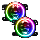 ORACLE Jeep Wrangler JK/JL/JT High Performance 20W LED Fog Lights - Dynamic ColorSHIFT