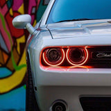2015-2021 Dodge Challenger ORACLE Dynamic ColorSHIFT Headlight Halo Kit - Surface Mount