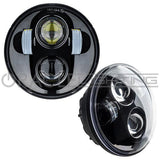 "ORACLE 5.75"" 40W Replacement LED Headlight - Black Bezel"
