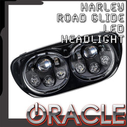 ORACLE Harley Road Glide Replacement LED Headlight - Black
