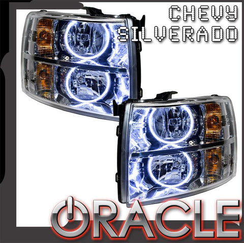 2007-2013 Chevy Silverado Pre-Assembled Headlights-Chrome