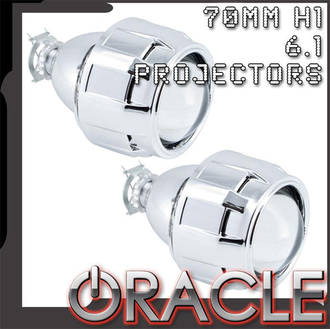 "ORACLE 2.5"" Bi-Xenon 70mm H1 6.1 Retrofit Projectors (Pair) w/Bezels"