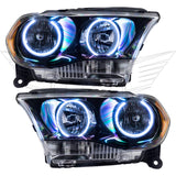 2011-2013 Dodge Durango Pre-Assembled Headlights Halogen - Black