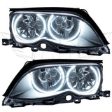 2002-2005 BMW 3 Series Pre-Assembled Headlights - Black