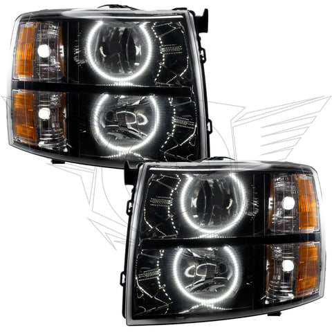 2007-2013 Chevy Silverado Pre-Assembled Headlights-Black