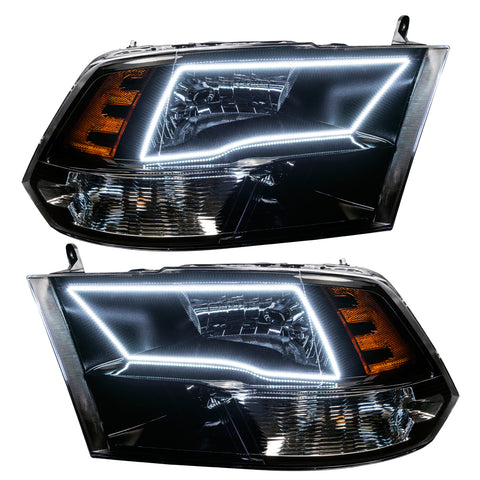 2009-2017 Dodge Ram Sport Pre-Assembled Headlights - Black