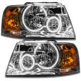 2003-2006 Ford Expedition Pre-Assembled Headlights - Chrome