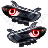 2013-2016 Dodge Dart Pre-Assembled Headlights - Black(Halogen Style)