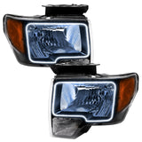 2009-2014 Ford F-150 Pre-Assembled Headlights-Black