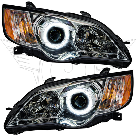 2008-2009 Subaru Legacy Pre-Assembled Headlights - Chrome