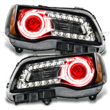 2011-2014 Chrysler 300C NON HID Pre-Assembled Headlights - Black Housing