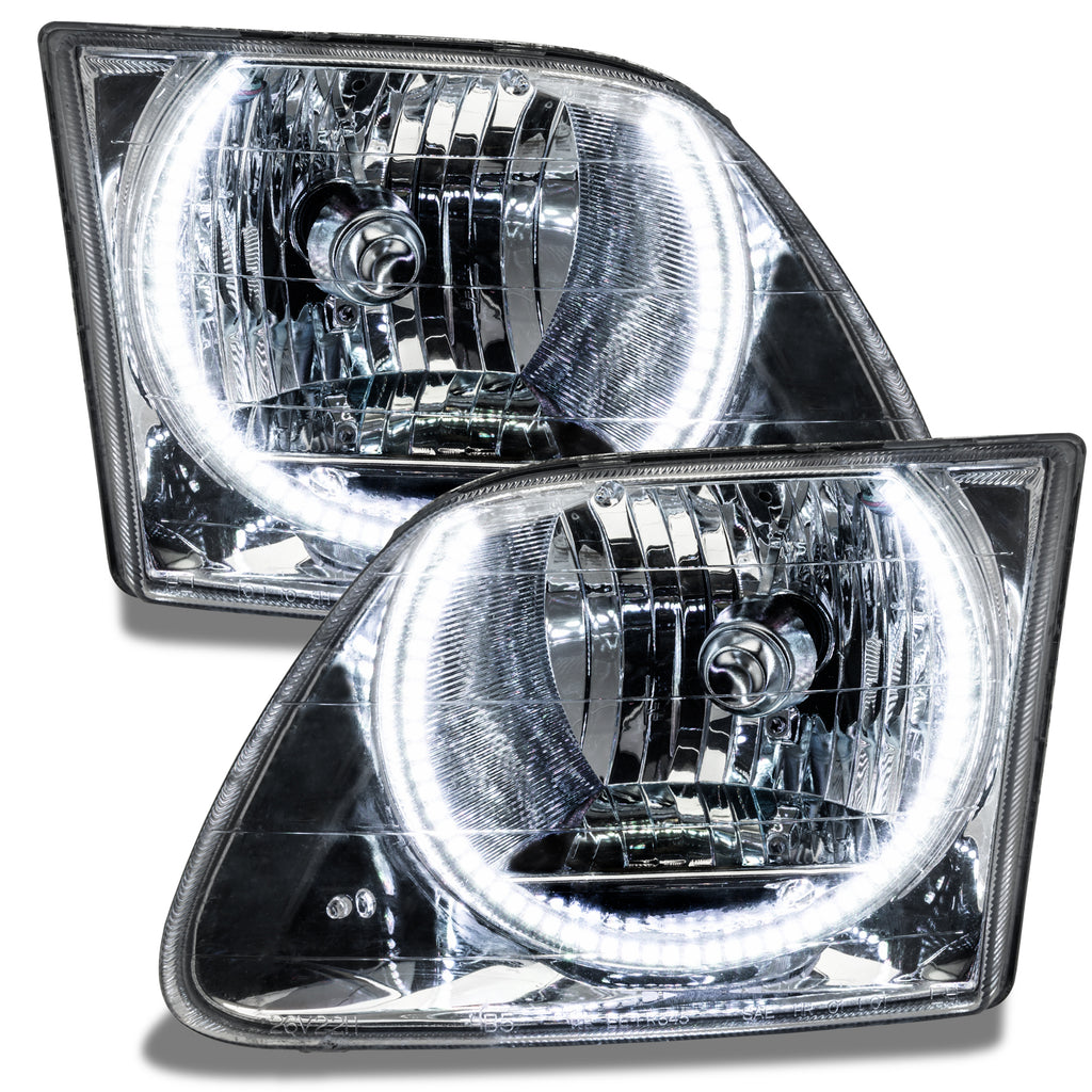 1997 2003 Ford F 150 250 Pre Assembled Headlights Chrome Oracle