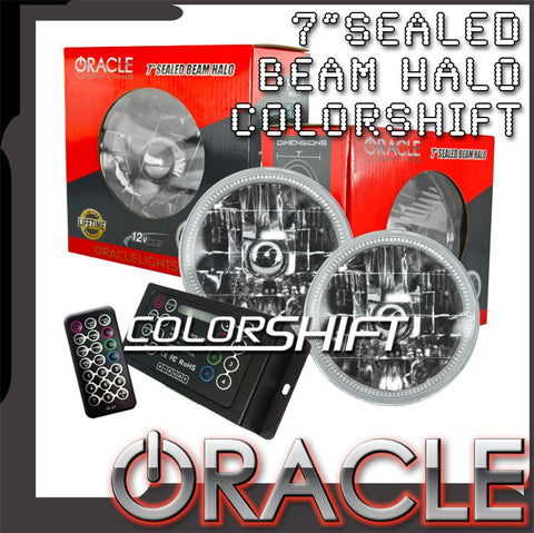 "ORACLE Pre-Installed 7"" Sealed Beam Halos - ColorSHIFT LED Kit"