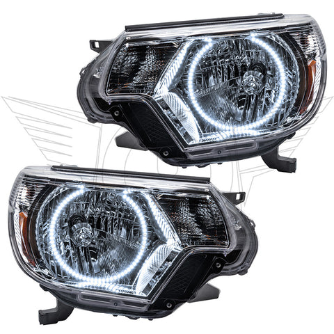 2012-2015 Toyota Tacoma Pre-Assembled Headlights - Chrome