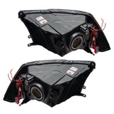 2009-2012 Dodge Ram Non-Sport Pre-Assembled Headlights - Black - Clearance