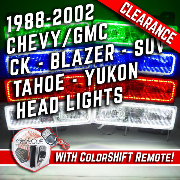1988-2002 Chevrolet GMC CK Blazer SUV Truck Headlights ORACLE ColorSHIFT Halos + RGB Controller